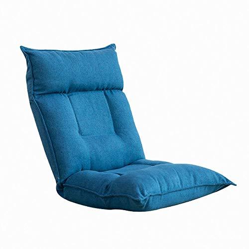 JHTD Sofá Perezoso Plegable de látex, con Respaldo, sillón reclinable de Juego de Piso Ajustable, Cama de acompañamiento Multifuncional, cojín Gratis, para el balcón del Dormitorio de Juegos de TV
