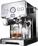 GaoF Cafetera de Grano a Taza Cafetera de 1450 W, cafetera de Goteo programable de 2 Tazas (para Uso Continuo), cafetera, diseño antigoteo, cafetera de Filtro Permanente