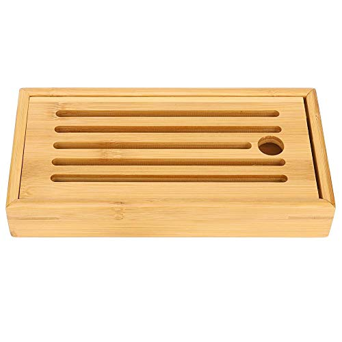 AUNMAS Bamboe tablets, huishoudtafel, thee, waterafvoer, tafel, dienblad voor thuis