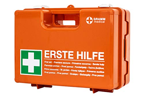 GRAMM medical 418.035.00200 Domino 13 157 Verbandkoffer DIN 13157, orange, 34 x 12 x 24 cm