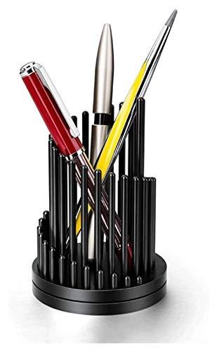 Titular de la pluma con rotación rápida de la pluma, soporte de lápiz de metal, descompresión de escritorio Suministros de oficina de barril de bolígrafo, pueden personalizar regalos de letras Papeler