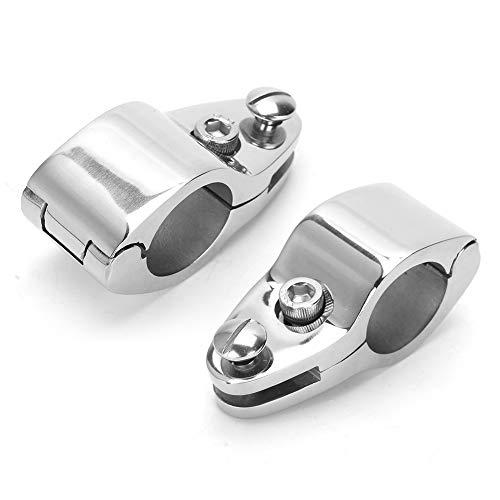 Terisass Boot Bimini Top Klappbacke Schieben 2 Stück Edelstahl Bimini Top Hardware-Beschläge (20 mm, 22 mm, 25 mm, 30 mm, 30 mm, 32 mm)(20mm)