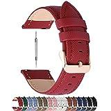 Fullmosa Colores para Correa de Reloj, Cross Piel Correa Huawei Samsung Correa/Banda/Band/Pulsera/Strap de Recambio/Reemplazo 14mm...