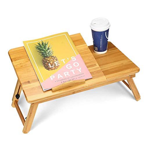 QFWM Escritorio de ordenador ajustable para ordenador portátil, bandeja de cama grande inclinable, mesa plegable multitarea, escritorio de trabajo de oficina