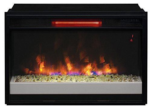 ClassicFlame 26II310GRG-201 26' Contemporary Infrared Quartz Fireplace Insert with Safer Plug