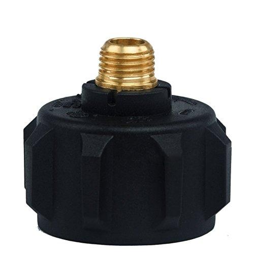 1/10,2 cm Mnpt de chauffage au propane Grill Fumoir pièces Plastique + Métal Noir Bouteille de gaz Valve 1 type 1 LP gas Plug