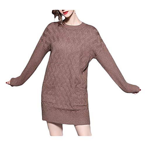 Vestido de Mujer El otoño y el Invierno escorpión Salvaje Delgada retorcida de Punto de Tocar...
