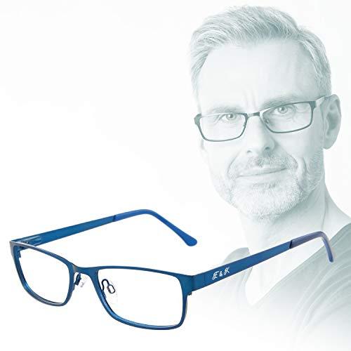 Edison & King - Leesbril Elements – Van metaal, in 6 kleuren en met premium glazen