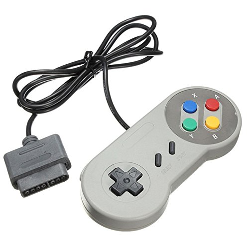 TRIXES SNES Kompatibler Ersatz Controller Retro Gamepad Super Nintendo Entertainment System