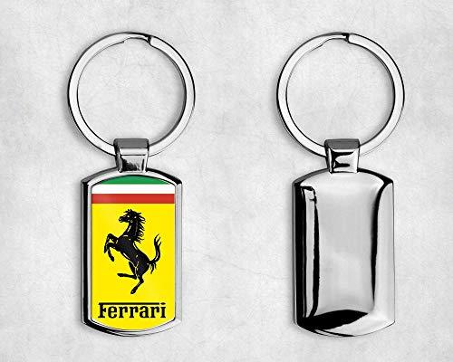 T20 DESIGNS Llavero de Metal con el Logotipo de Ferrari, Caja de Regalo, A001