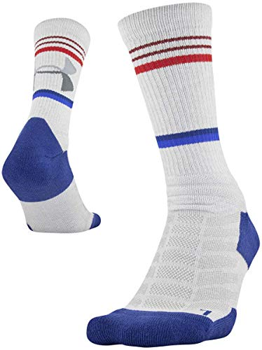 Under Armour Adult Training Novelty Crew Socks, 1-Pair , Halo Gray , Large