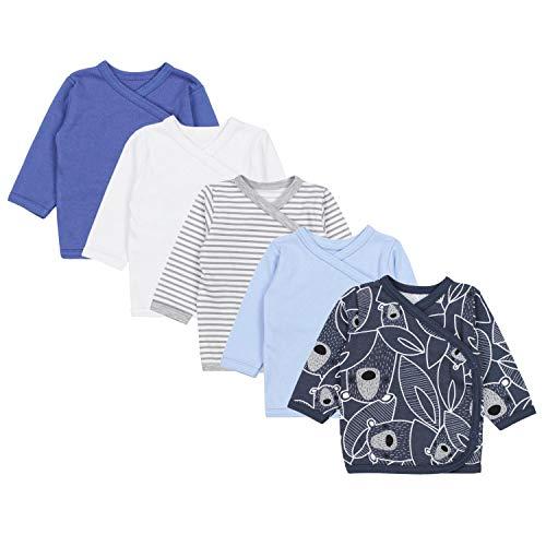 TupTam Unisex Baby Langarm Wickelshirt 5er Set, Farbe: Junge 5, Größe: 56