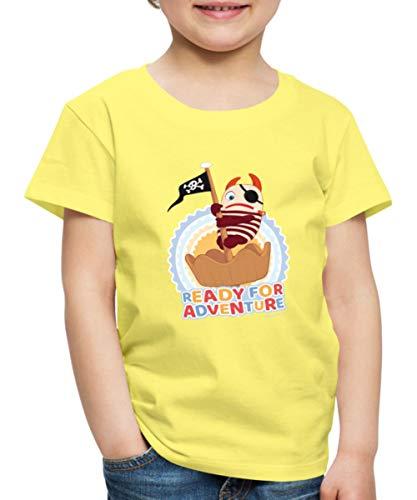 Sorgenfresser Flint Ready for Adventure Kinder Premium T-Shirt, 134-140, Gelb