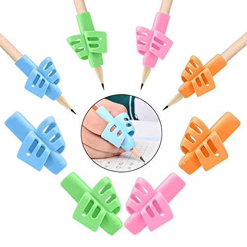 8 Pièces Grips Pour Crayon,Guide Doigt Enfant,Grips pour Crayon Silicone Pencil Grips for Kids Ergonomique Aide Ecriture Pour Enfant Adulte Besoins