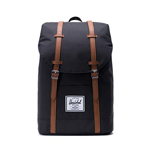 Herschel Retreat Backpack - Mochila casual unisex, Negro (Black), Talla única