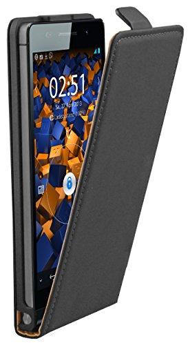 mumbi Tasche Flip Case kompatibel mit Huawei Ascend P6 Hülle Handytasche Case Wallet, schwarz