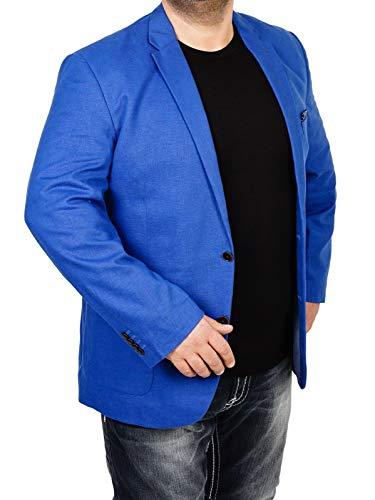 bonprix Herren Sakko untersetzt Comfort Fit Leinen-Mix Übergröße Blazer Zweiknopf Jackett Anzug Langgröße bequem Spezialgröße, Größe 98, lichtblau