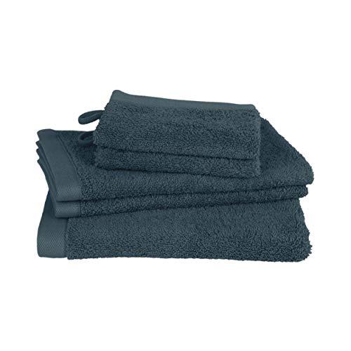 Clarysse Handtücher Set 5 teilig, Badetücher Set aus Premium 100% gekämmter Baumwoll Hotelqualität, Badezimmer Set belgische Marke, 500g/m2, Mittelblau, Geschenk Set