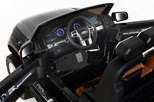 RC Auto kaufen Kinderauto Bild 6: RIRICAR Ford Ranger Wildtrak 4X4 LCD Luxury, Elektro Kinderfahrzeug, LCD-Bildschirm, lackiert schwarz - 2.4Ghz, 2 x 12V, 4 X Motor, Fernbedienung, 2-Sitze in Leder, Soft Eva Räder, Bluetooth*