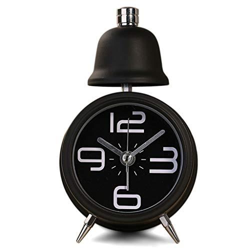Reloj de Péndulo Silencio clásico Mini Lindo Pequeño Despertador y Luz nocturna Timbre de una sola campana Escritorio de escritorio Reloj digital Casa instalada Con pilas Decorativo Reloj de Pared