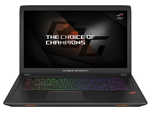 Asus ROG GL753VE-GC004T Notebook, Display da 17.3', Processore Intel i7-7700HQ, 2.8 GHz, SSD da 128 GB e HDD da 1024 GB, 16 GB di RAM, Scheda Grafica nVidia Geforce GTX 1050Ti, 4 GB