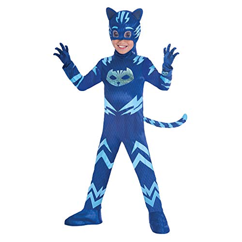 amscan- Disfraz PJ Mask Cat Boy Luxe (3-4 años), multicolor, 7AM9902964