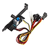 Shiwaki El Controlador De Velocidad del Ventilador De Refrigeración 3 Canales 3pin Pc 12v Potencia Pci Soporte