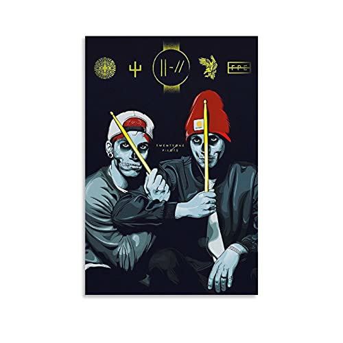 xianhan Twenty One Pilots- Poster Decorative Painting Canvas Wall Art Living Room Posters Bedroom Painting 24×36inch(60×90cm)