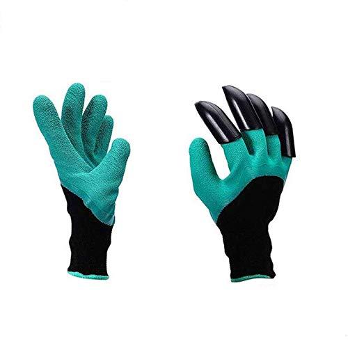 HONIC 2 Paar Gartenhandschuhe mit Greifern Pannenschutz, Wasserdicht Sicher Garten-Handschuhe für Graben, Pruning & Bepflanzung: Einzel Paw