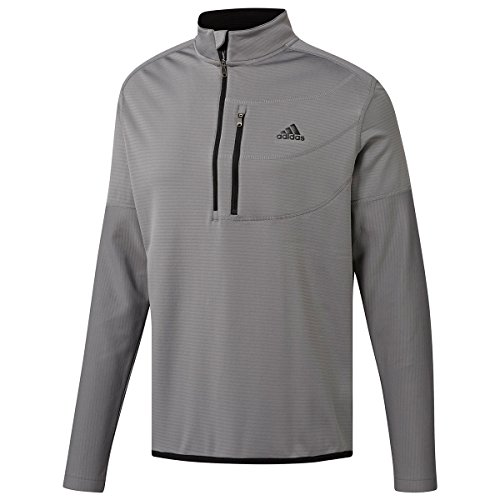 adidas Herren Climawarm Gridded 1/4 Zip Trainingsjacke, Grau (Gris CY9366), Medium