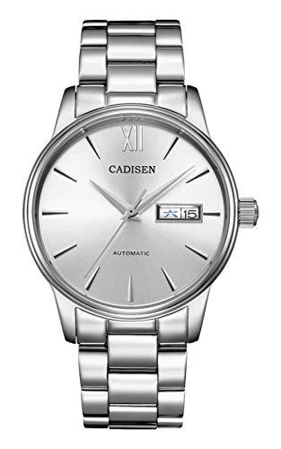 CADISEN C1032, 40 mm, Sunburst bianco, movimento NH36, display, zaffiro, BNIB