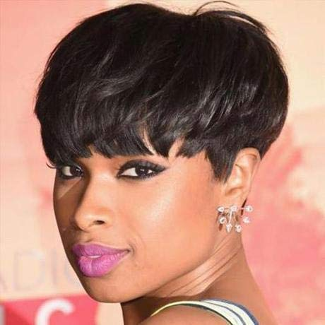 FCHW Short Pixie Cut Hair Wig Short Black Hairstyles Synthetic Wigs For Women Short Black Wig Heat Resistant Hairpieces Women's Fashion Wigs (FCHW-XUNPU-DJ9411)