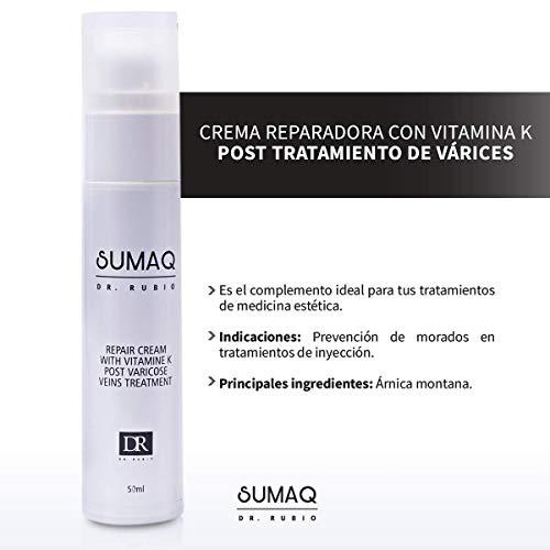 SUMAQ - DR.RUBIO Crema Reparadora con Vitamina K Post Tratamiento de Varices 50ml