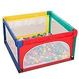 Corralito para bebés, corralito interior para niños, protector de arrastre para bebés, corralito portátil para exteriores, corralito extra grande para seguridad para bebés en interiores-120x120 cm