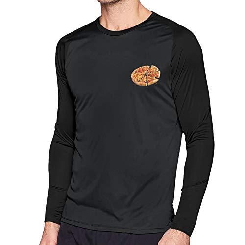 GuazhouFan Pizza Hut Man Slim Round Neck T Shirt Black