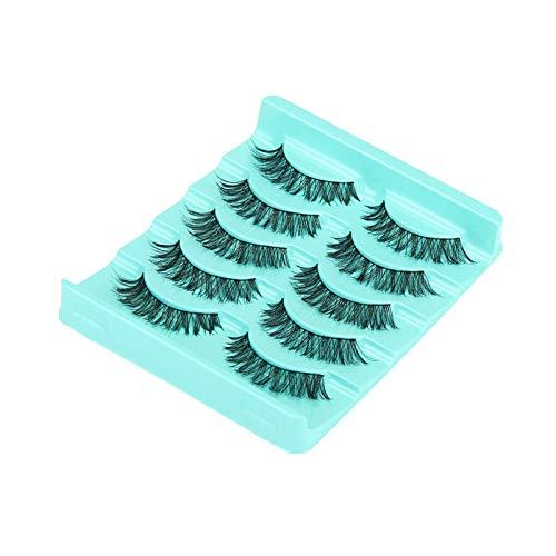 DAMAIA Faux-Cils, 5 Paire Lot entrecroisés Faux Cils Cils Volumineux Hot Cils Big Vente Oeil Faux Cils Cils Maquillage Femmes Longues (Color : Schwarz)