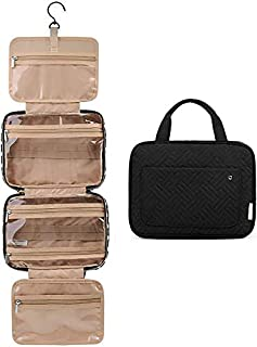Best BAGSMART Toiletry Bag Travel Bag with Hanging Hook, Water-resistant Makeup Cosmetic Bag Travel Organizer for Accessories, Shampoo, Full Sized Container, Toiletries Review
