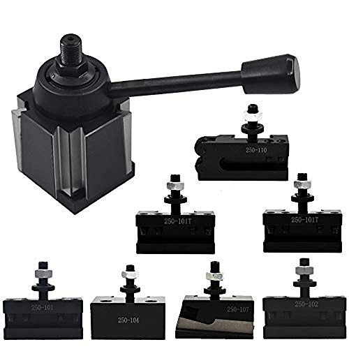 """AXA Size 250-111 Wedge Type Tool Post Set for Lathe 6-12""""+2 Extra XL Tool Holder"""