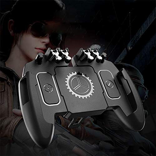 ZWB Mobile Game Controller, Mobile Phone Stand, Gaming Grip with Portable Charger Cooling Fan, Gamepad for 4.7-6.5 inch Phone (Color : Without Fan)