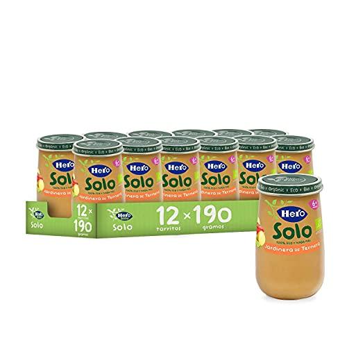 Hero Solo - Tarrito Eco de Jardinera de Ternera para Bebés a Partir de los 6 Meses - Pack de 12 x 190 g