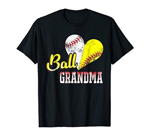Funny Ball Grandma Baseball Softball T-Shirt