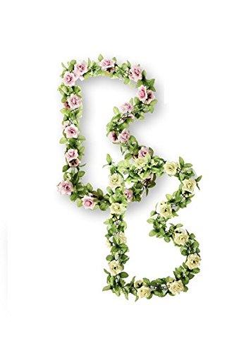 Basil rosas Flower Garland Blumengirlande, Pink, Einheitsgröße, 50269