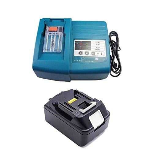 Ersatz Makita 18V 5.0Ah Akku mit Ladegerät für Makita Baustellenradio BMR100 BMR102 DMR100 DMR110 DMR101 DMR103B BMR104 BMR103 DMR104 DMR105 DMR106 DMR102 DMR109 DMR108 DMR107 Radio 5000mAh