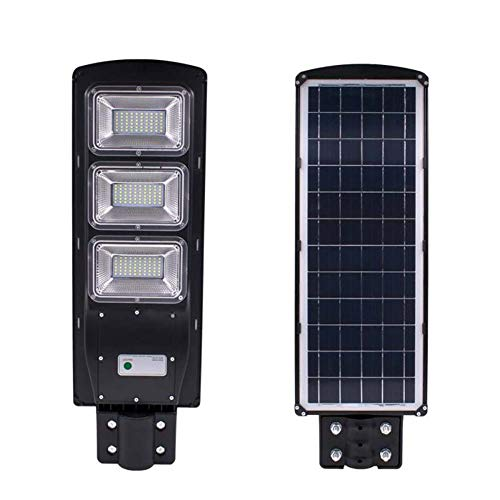 WXJWPZ Impermeable IP67 60 / 90W 120 / 180LED Radar de luz de Calle Solar + Sensor de Movimiento PIR Lámparas de Pared al Aire Libre Luces solares de jardín de Paisaje 90W