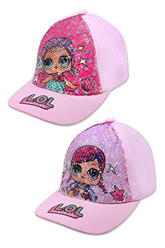 L.O.L Suprise LOL Kinder Kappe mit Pailletten Baseball-Cap Mütze Sommer-Hut, Größe:54