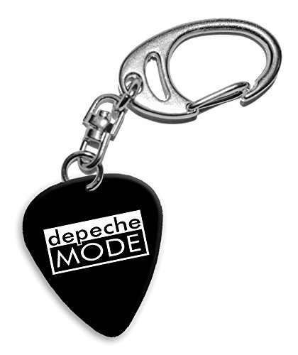 Depeche Mode Band Logo Llavero de púa de guitarra (H)