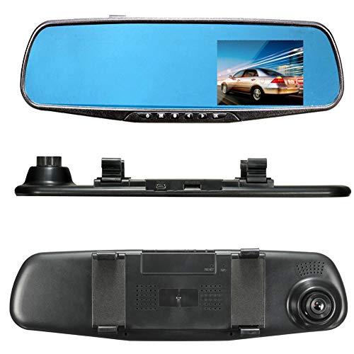 luckything Spiegel Dashcam 2,8 Zoll Touchscreen Full HD 1080P, Weitwinkel Frontkamera, Auto Kamer G-Sensor Loop-Aufnahme Parküberwachung
