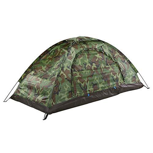 Godyluck Campingzelt für 1 Person Einzelschicht Outdoor Tragbare Tarnung Reise Strand Zelt