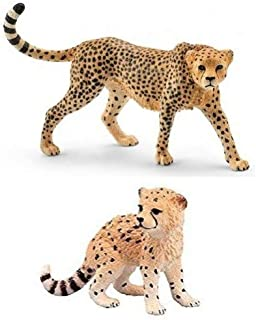 Schleich Wild CAT Set of 2 Cheetah and Cub: Bagged Together Nicely Ready to give!