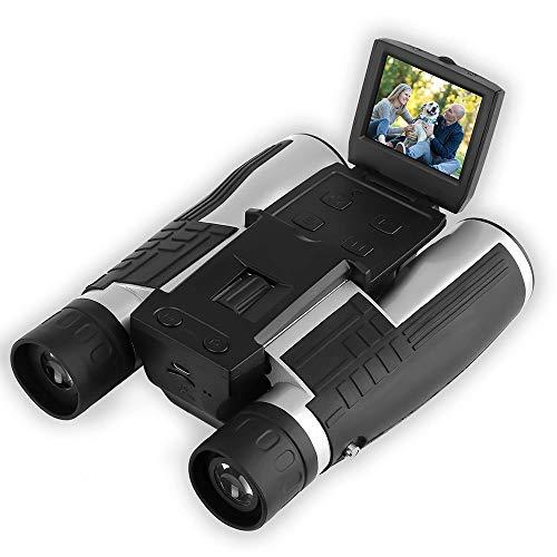 Telescopio de cámara con binoculares Digitales de 12x32 con Pantalla LCD de 2', Foto de 5MP y grabadora de Video 1080P...